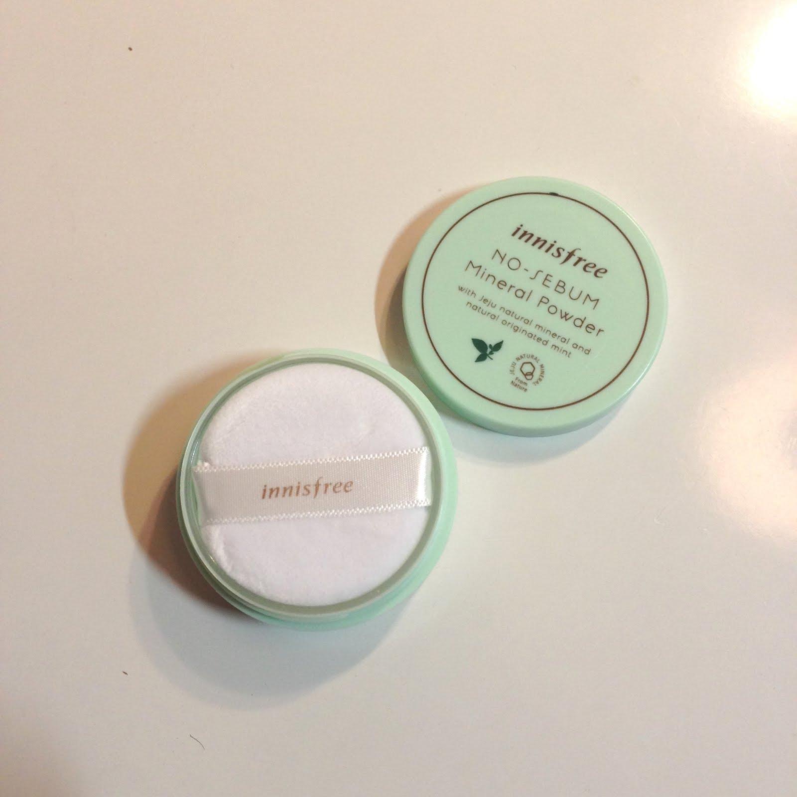 innisfree no sebum mineral powder review