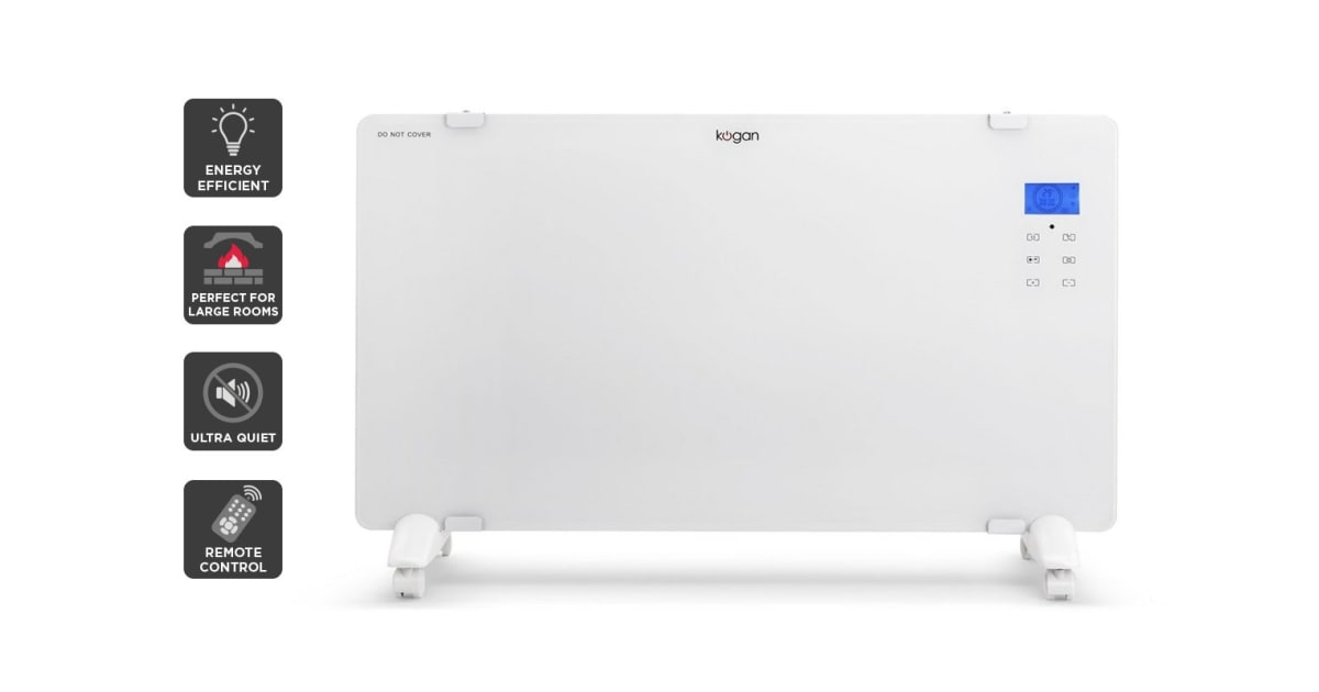 kogan glass panel heater review
