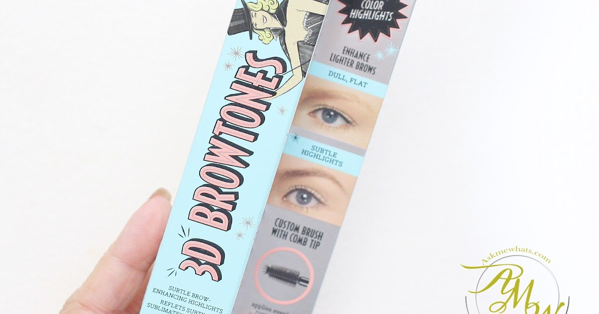 benefit 3d brow tones review
