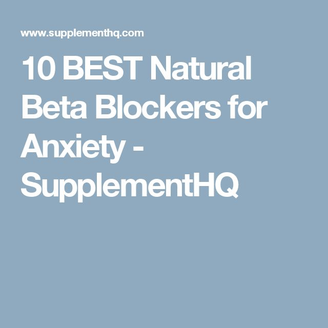 beta blockers for anxiety reviews