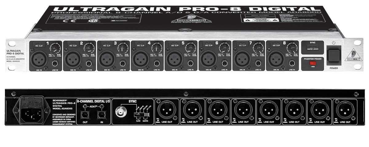 behringer ultragain pro 8 digital ada8000 review