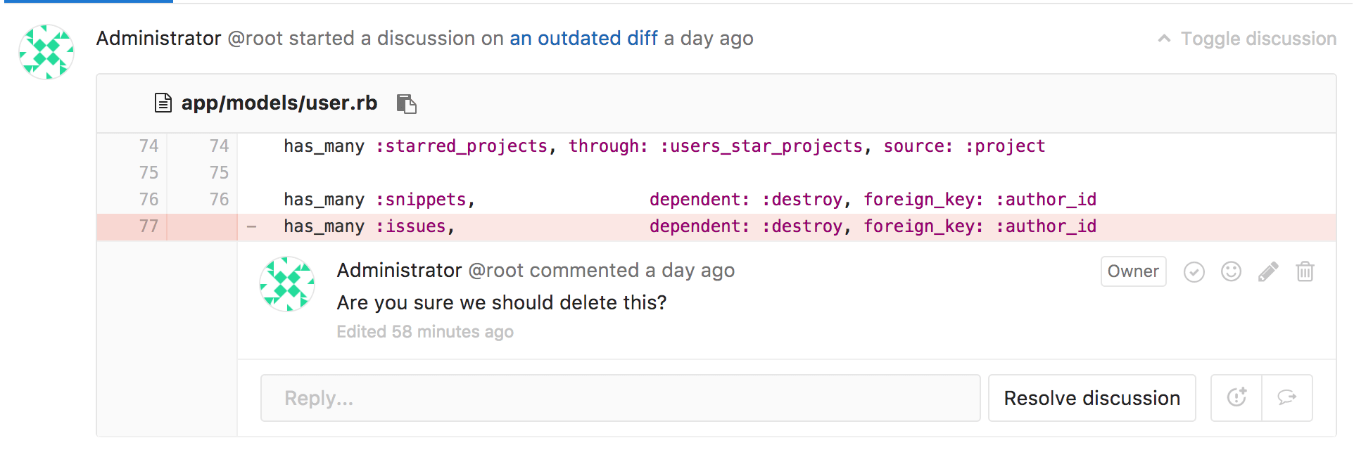 gitlab code review without merge request
