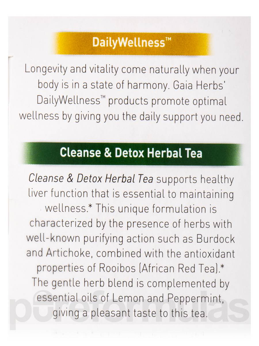 gaia herbs cleanse and detox tea reviews