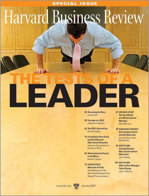 harvard business review january 2008